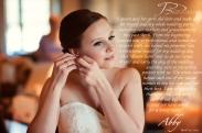 Hair & Makeup: Lauren Mantilla. Beautiful bride: Abigail Koehler Johnson. Photography: Joey Bleiler Photography.