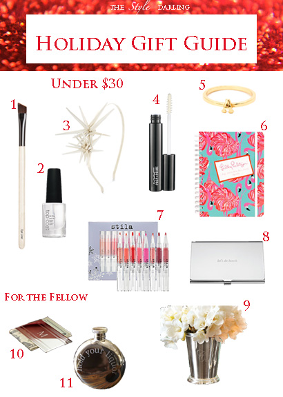 The Style Darling Holiday Gift Guide Under $30
