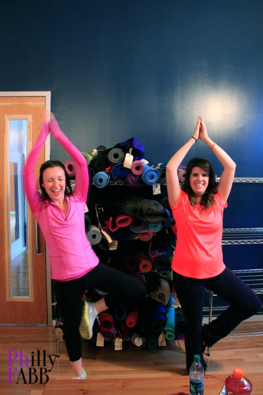Philly FABB members, Natalie and Jade, perfecting their pose!