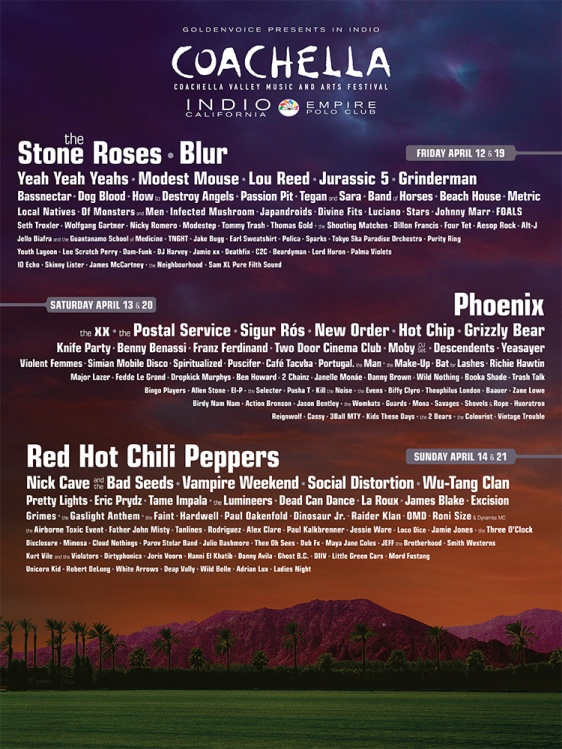 Coachella lineup poster