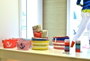 Nautical themed accessories & beach house storage.