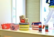 Nautical themed accessories & beach house storage.