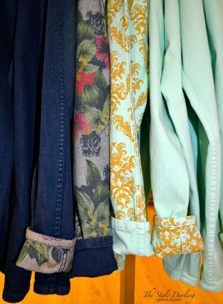Bleu Lab reversible jeans.